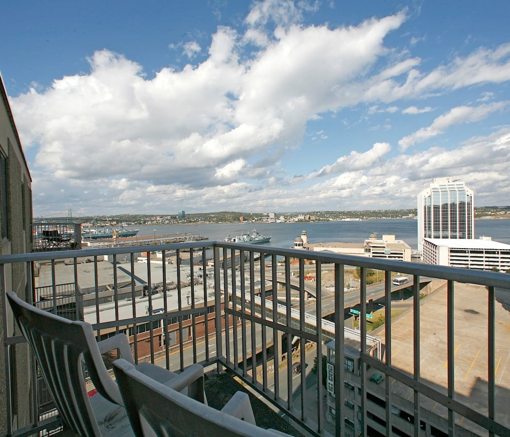 Balcony view at Halifax Apartments in Halifax