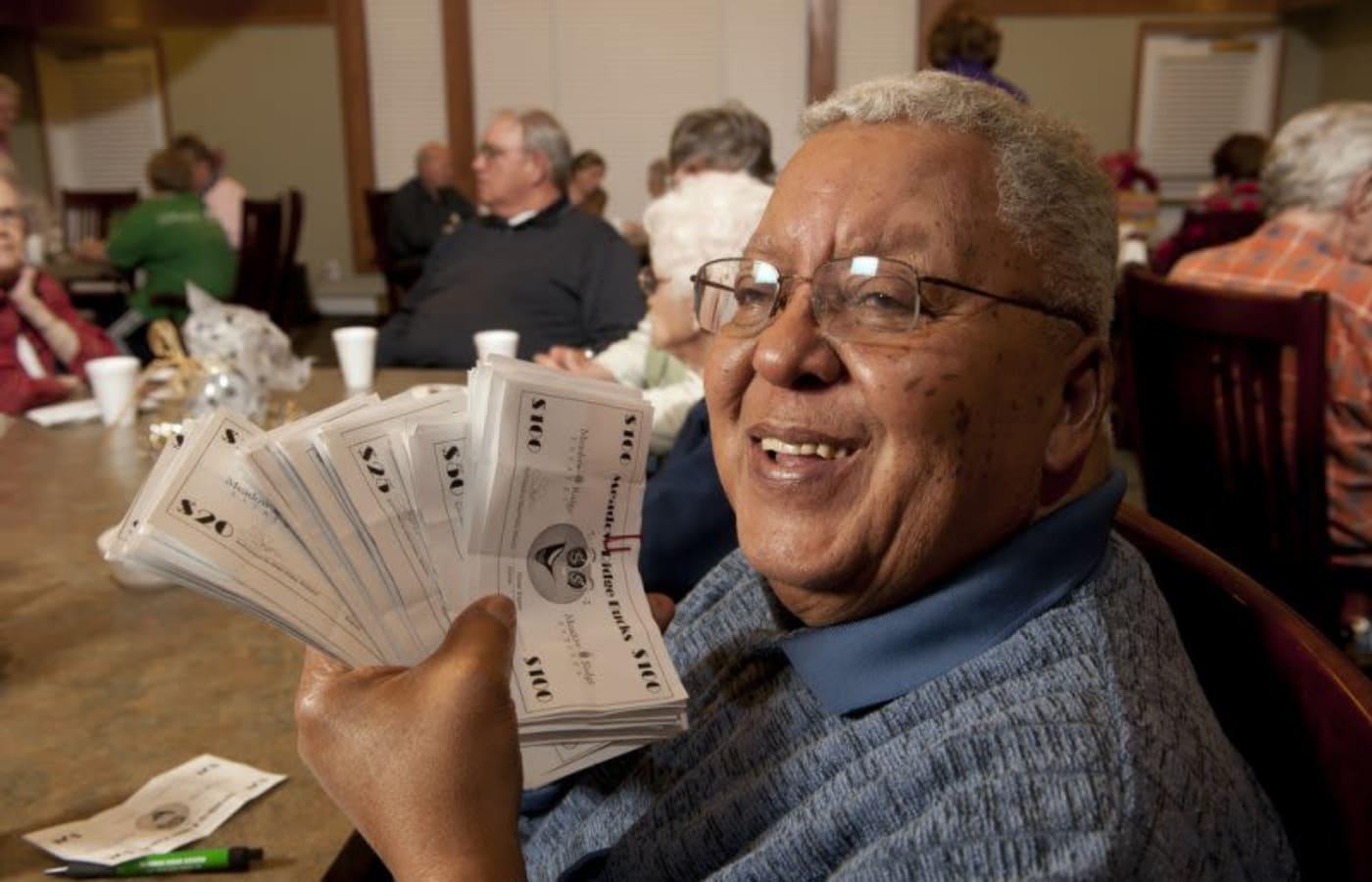 Meadow Ridge Senior Living resident enjoying some of our social activities