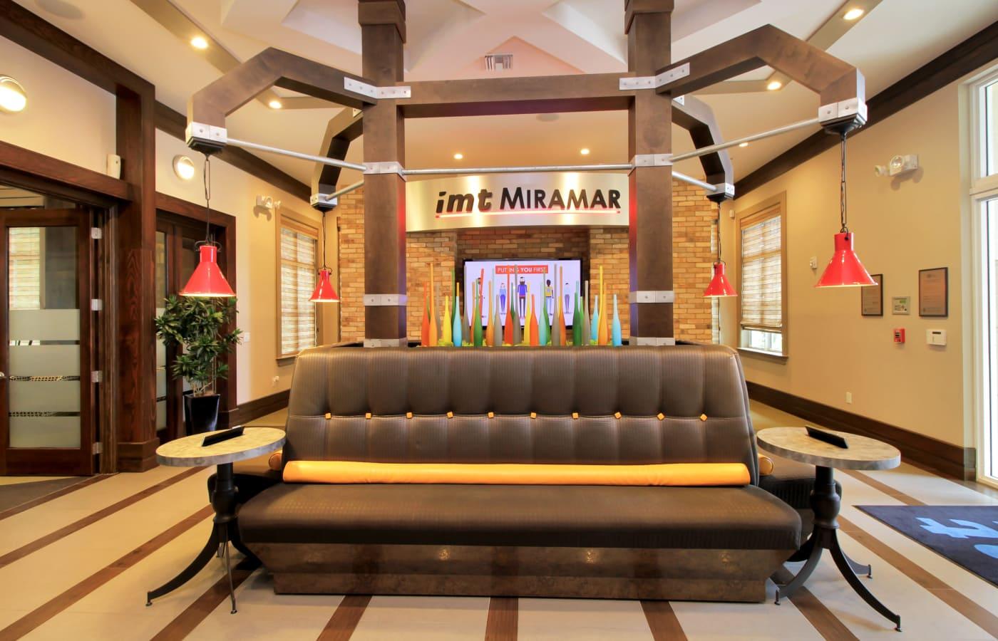 Leasing office interior at IMT Miramar in Miramar, FL