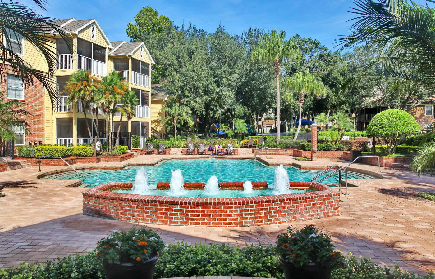 Beautiful swimming pool area at IMT Newport Colony in Casselberry, FL
