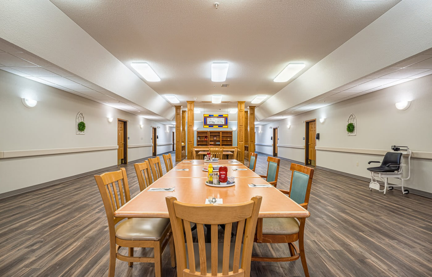 Spacious lunch room at Traditions of Owatonna in Owatonna, Minnesota