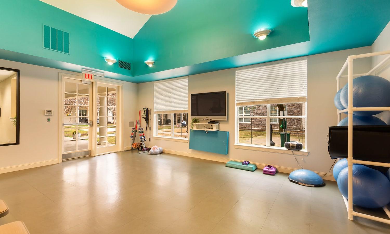Exercise studio at Prestonwood Court in Plano, Texas