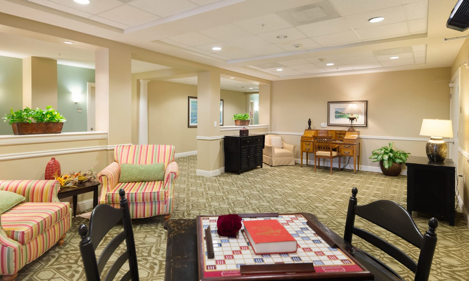 Game room at Prestonwood Court in Plano, Texas