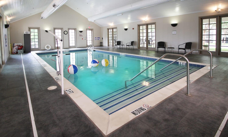Pool inside Prestonwood Court in Plano, Texas