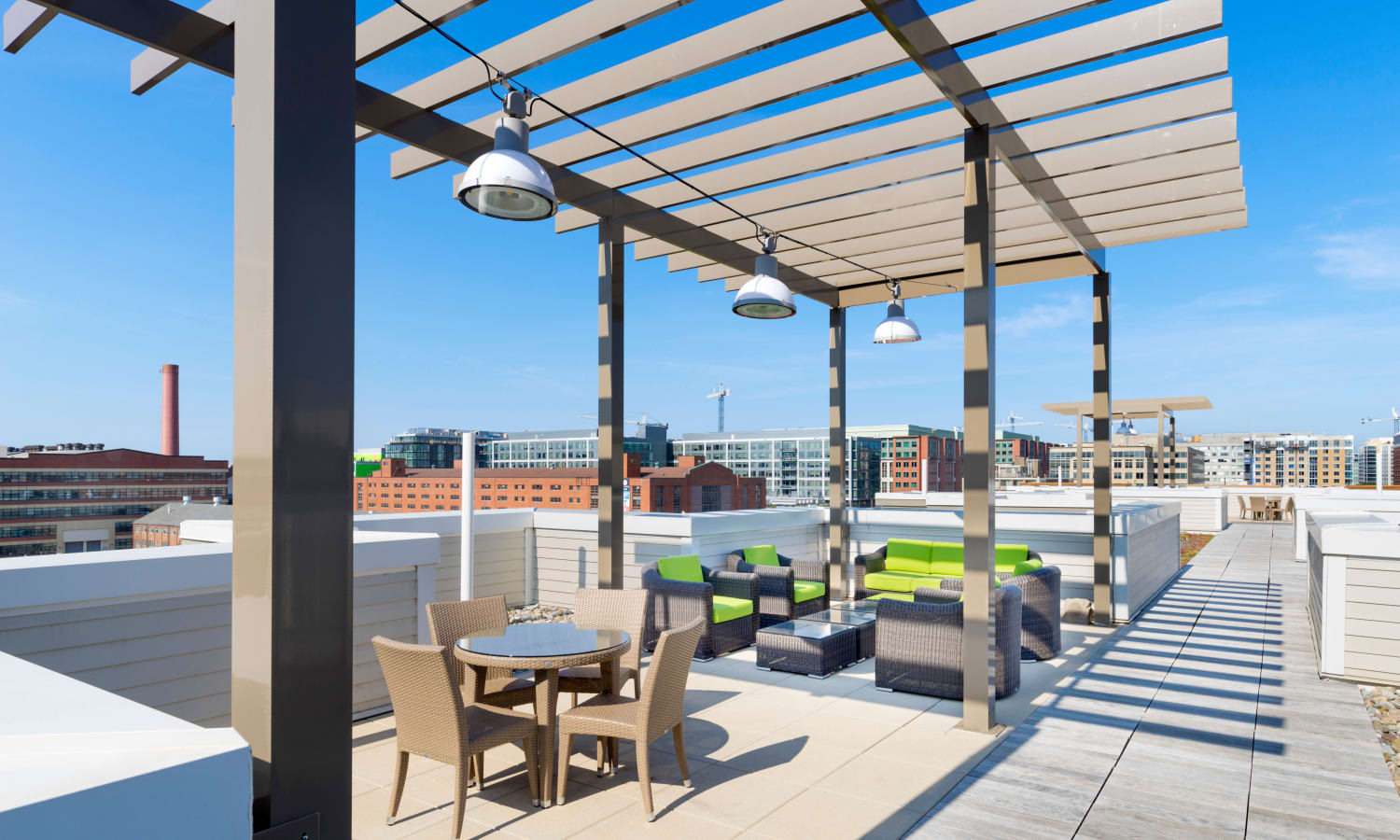 Rooftop lounge area at The Bixby in Washington, District of Columbia