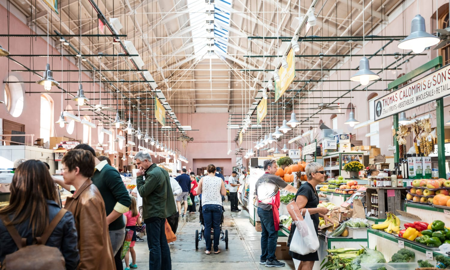 Huge open-air farmers market near The Bixby in Washington, District of Columbia