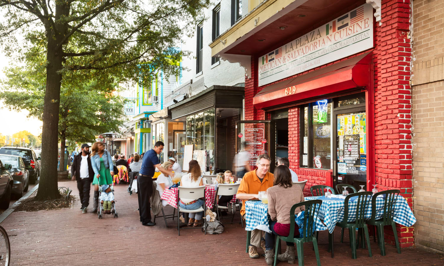 Restaurants with outdoor seating in the neighborhood at The Bixby in Washington, District of Columbia