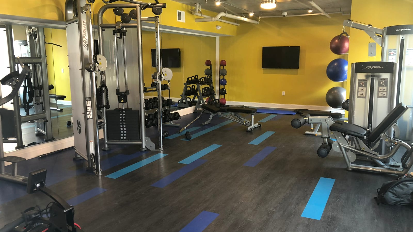 Beautiful apartments with a fitness center at The Edge in Richmond, Virginia