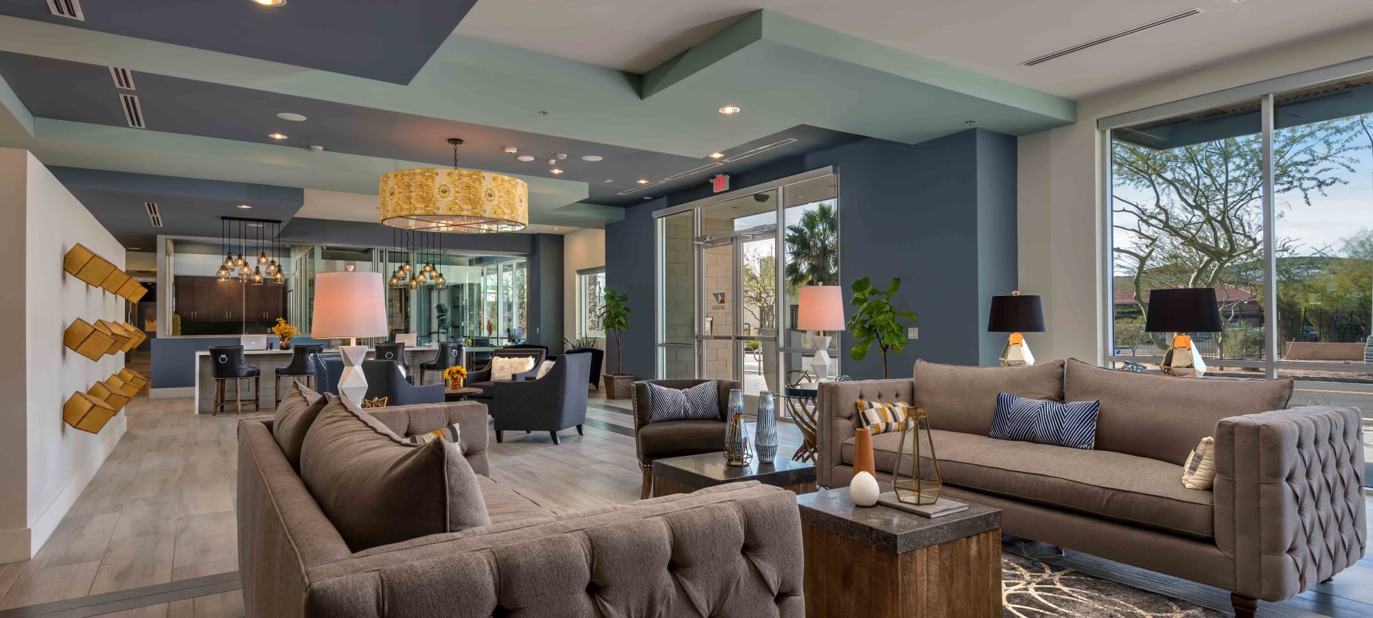 Luxurious clubhouse interior at Capital Place in Phoenix, Arizona