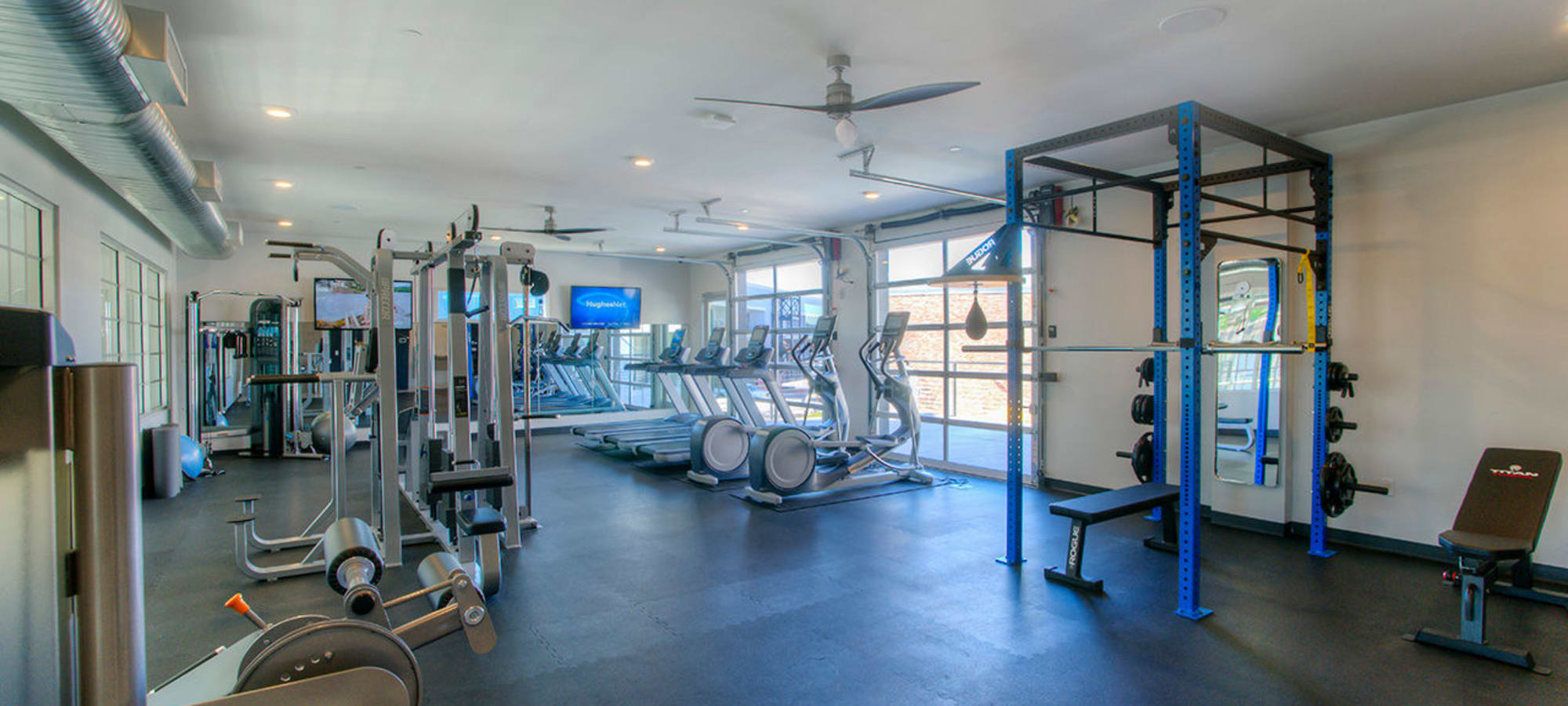 Fitness center at District Lofts in Gilbert, Arizona