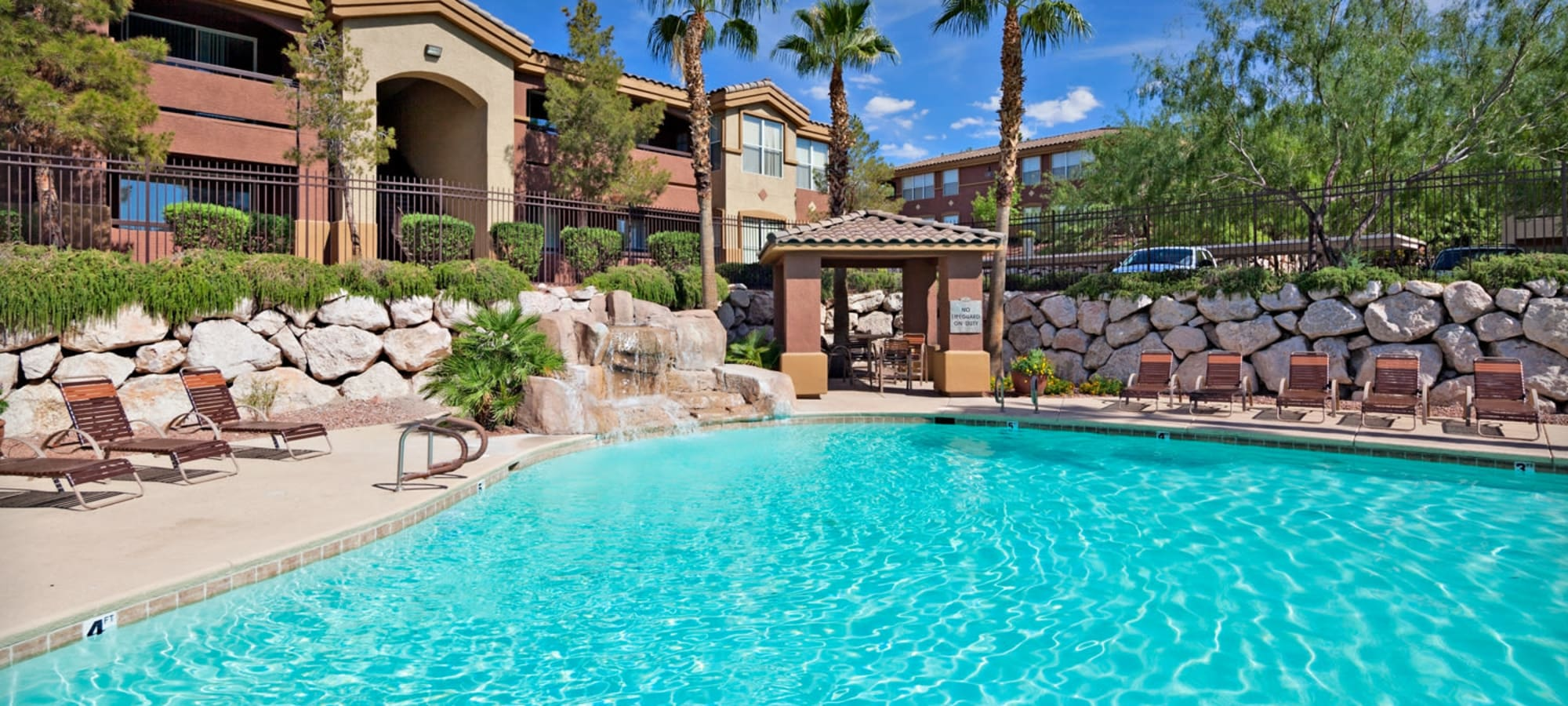 Swimming pool in Henderson, Nevada at Allegro at La Entrada