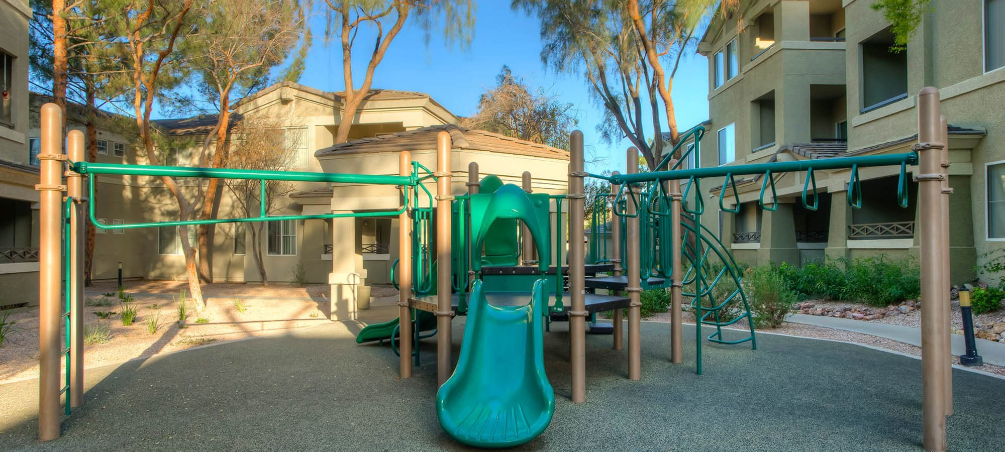 Playground area at The Reserve at Gilbert Towne Centre in Gilbert, Arizona