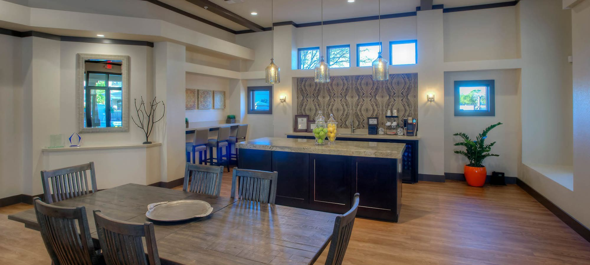 Clubhouse at The Reserve at Gilbert Towne Centre in Gilbert, Arizona