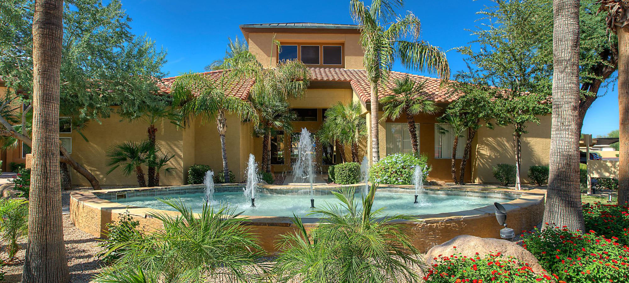 Fountain in the courtyard at Bellagio in Scottsdale, Arizona