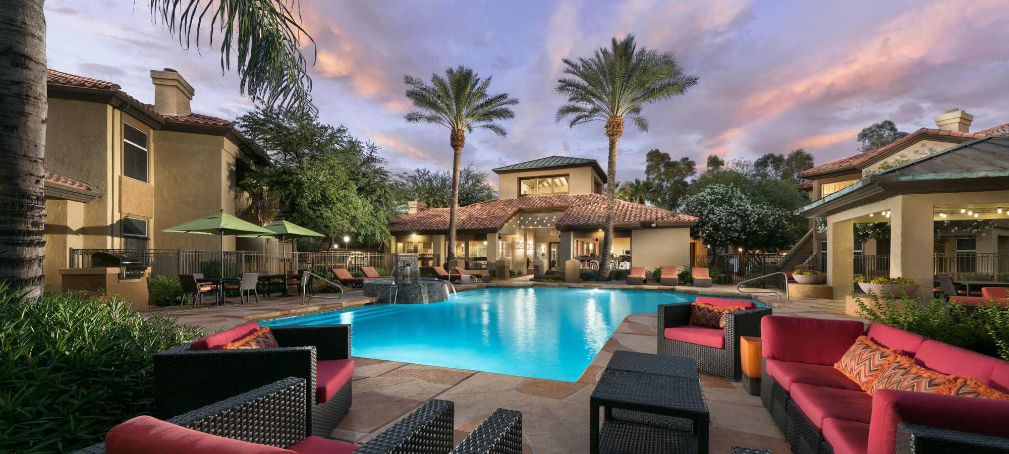 Swimming pool with lounge chairs at Bellagio in Scottsdale, Arizona