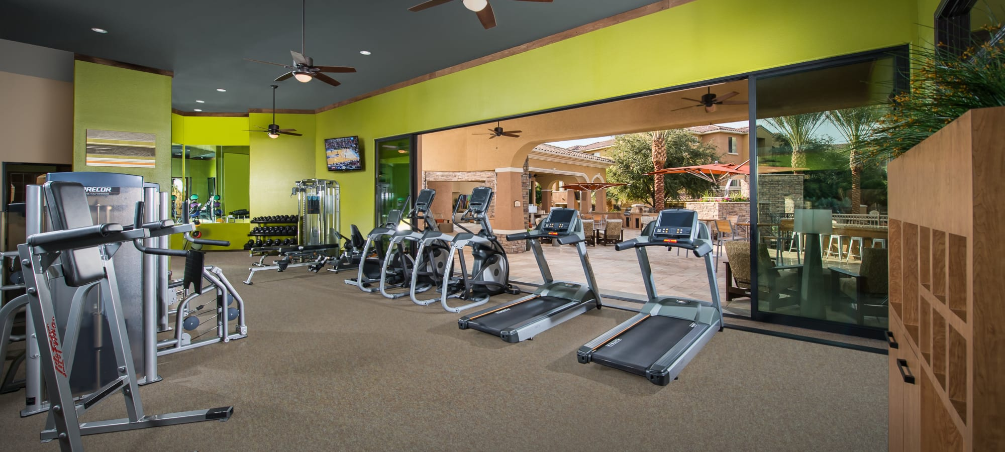 Well-equipped fitness center at Stone Oaks in Chandler, Arizona