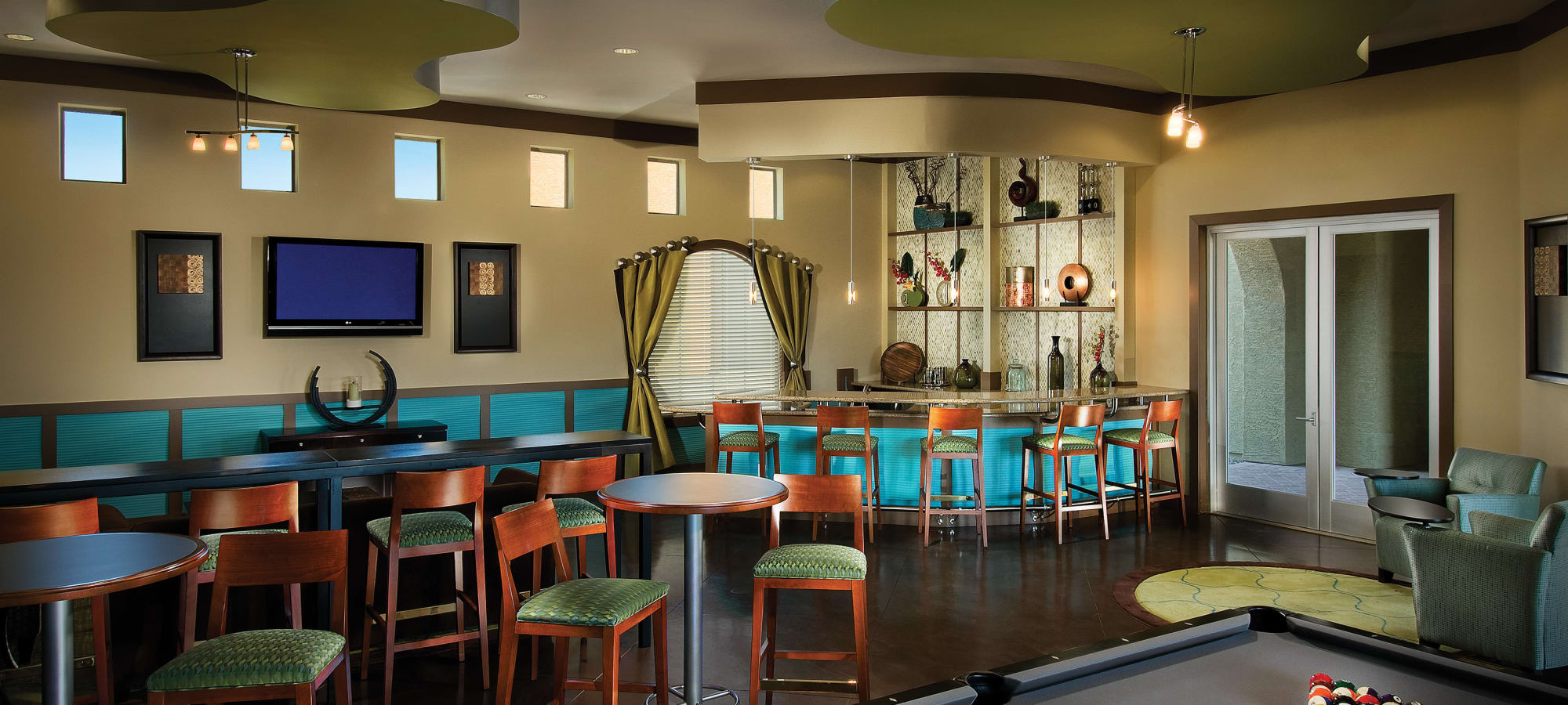 Community clubhouse at Ravenwood Heights in Tempe, Arizona