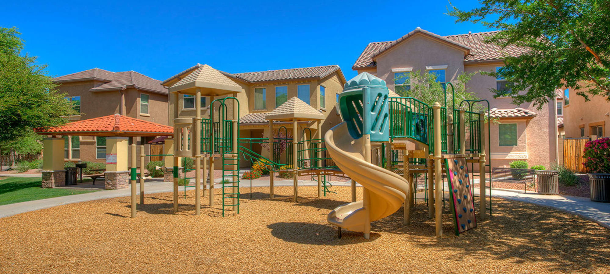 Large onsite playground at BB Living at Higley Park in Gilbert, Arizona