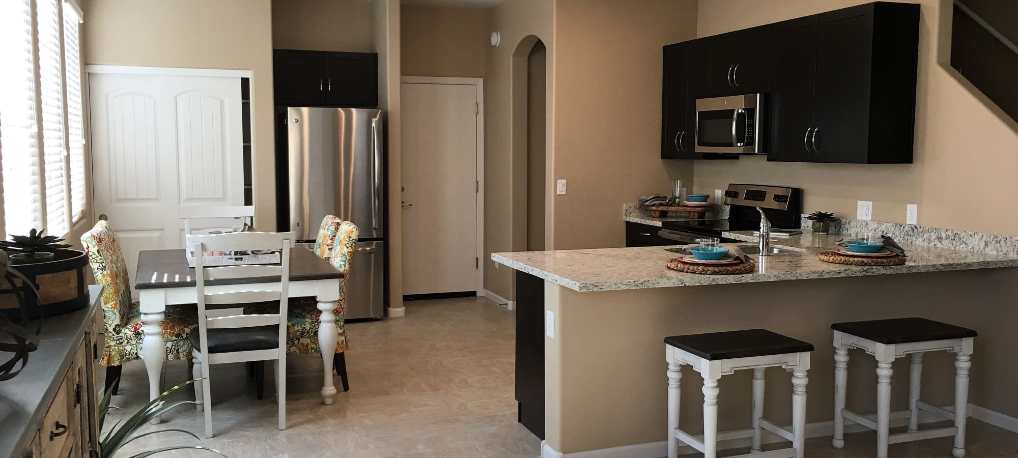 Kitchen and dining room at Vistancia in Peoria, Arizona