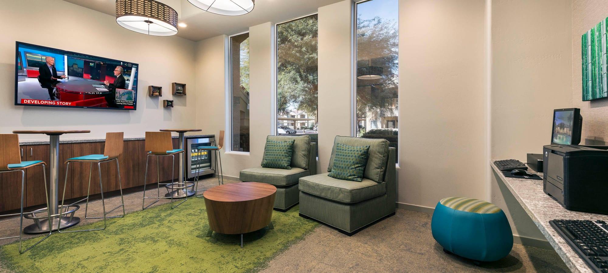Business center at Mira Santi in Chandler, Arizona