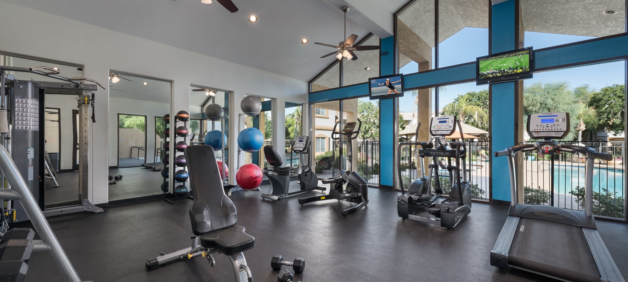 Fitness center at Club Cancun in Chandler, Arizona