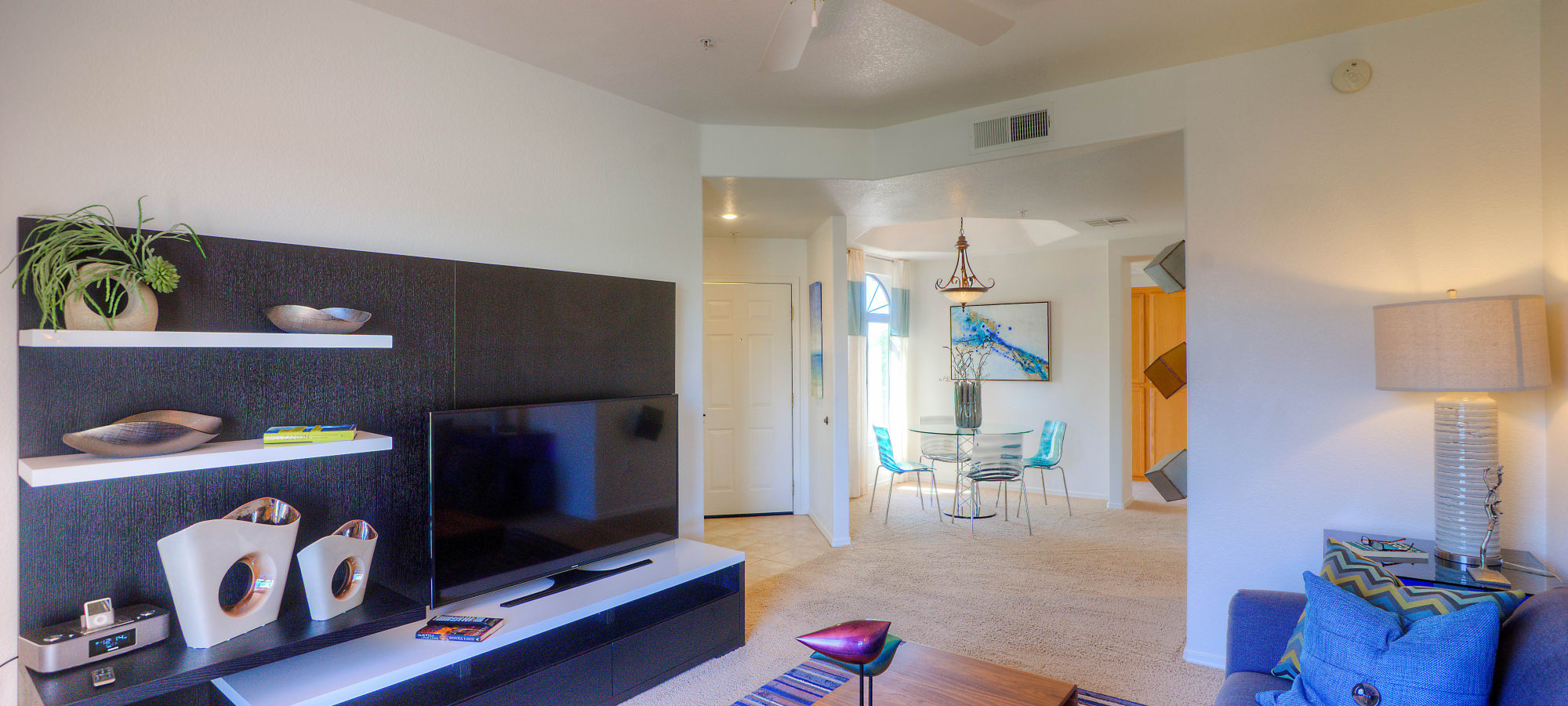 Living room next to the dining room at San Lagos in Glendale, Arizona
