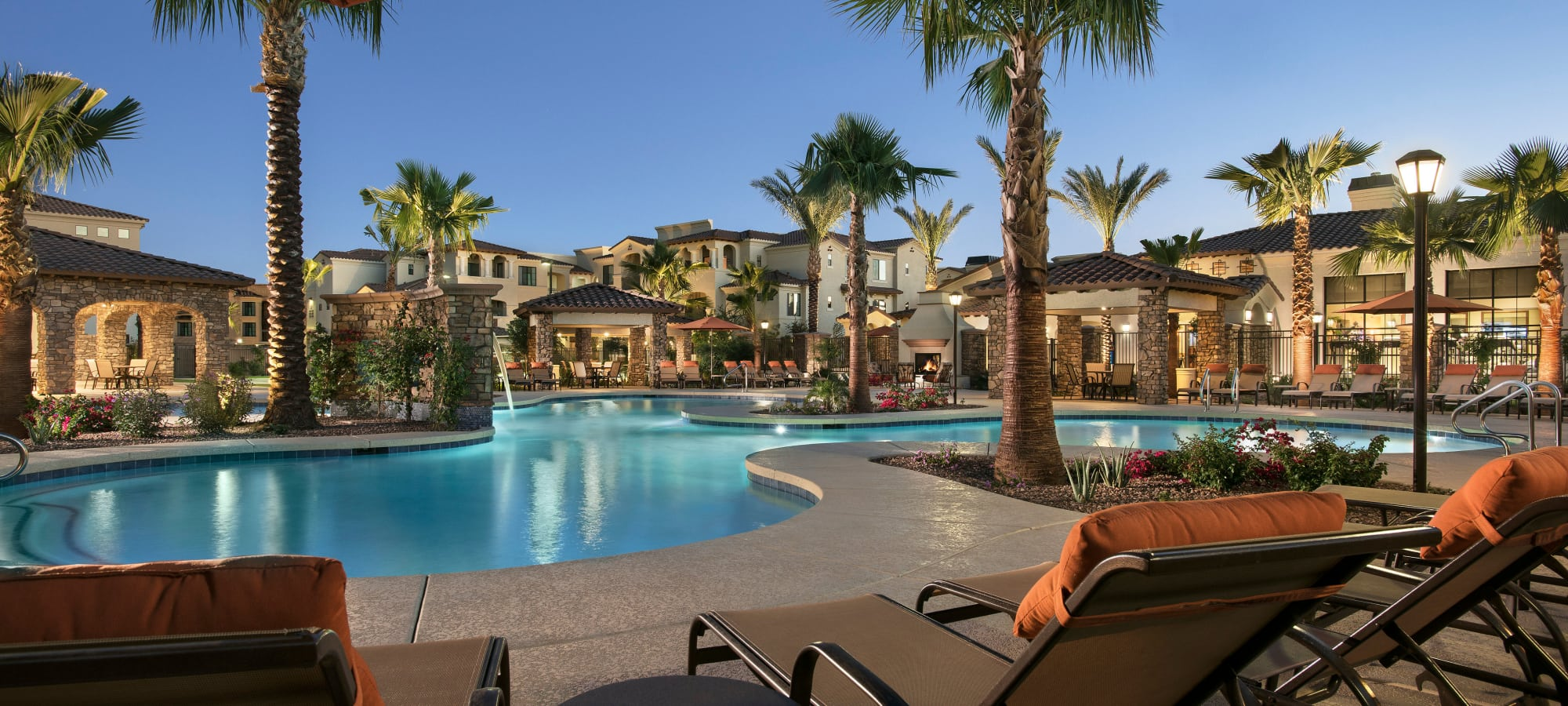 Swimming pool at San Privada in Gilbert, Arizona