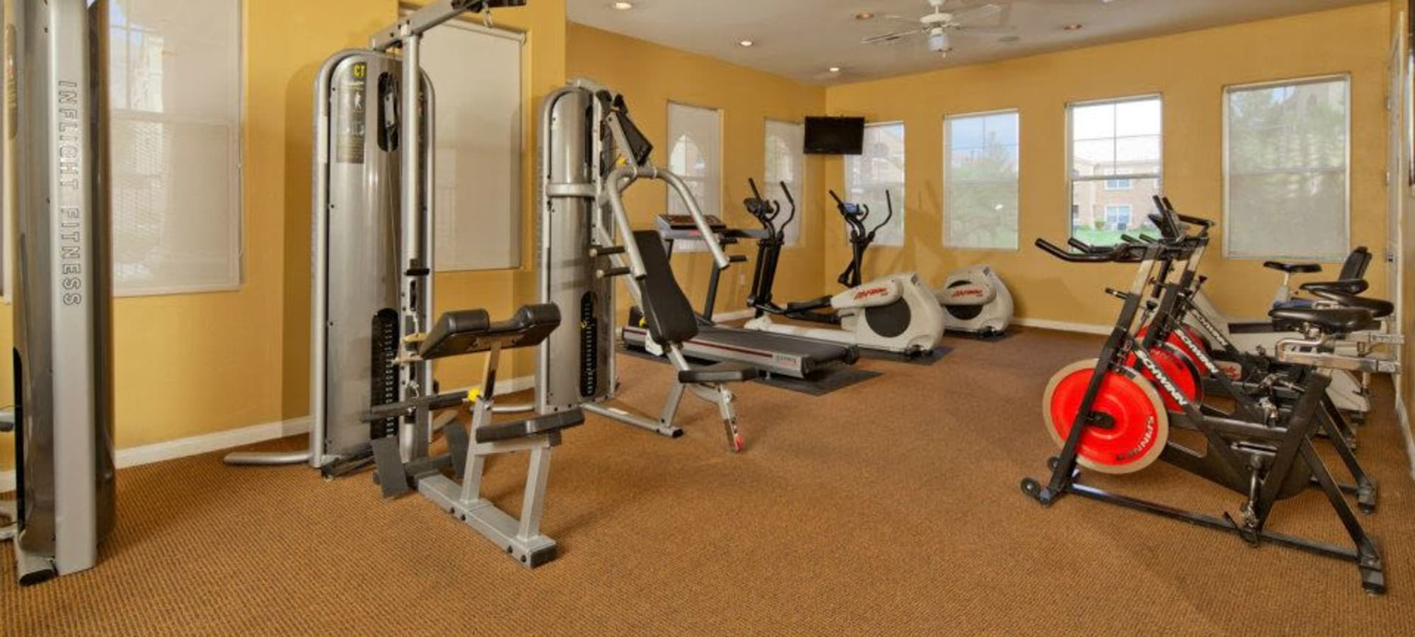 Resident fitness center at Shadow Hills at Lone Mountain in Las Vegas, Nevada