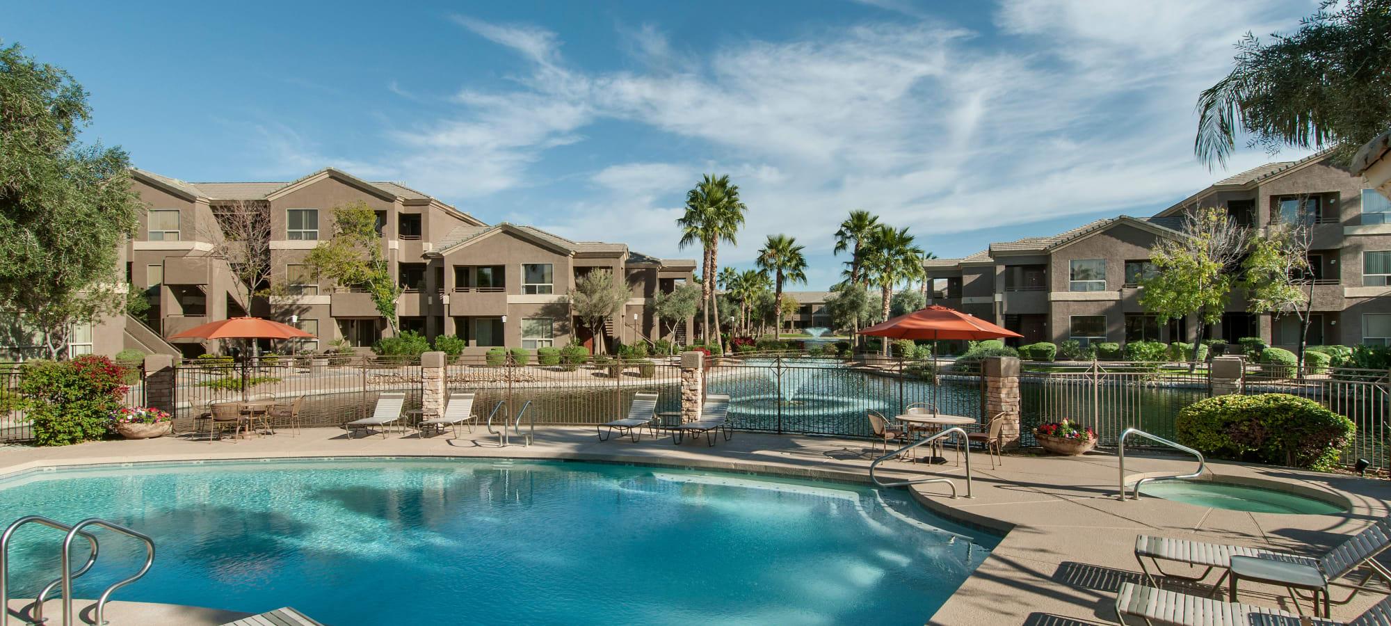 Resident community pool at Laguna at Arrowhead Ranch in Glendale, Arizona