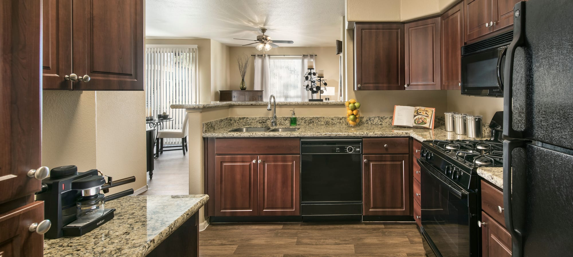 Resident kitchen at Laguna at Arrowhead Ranch in Glendale, Arizona