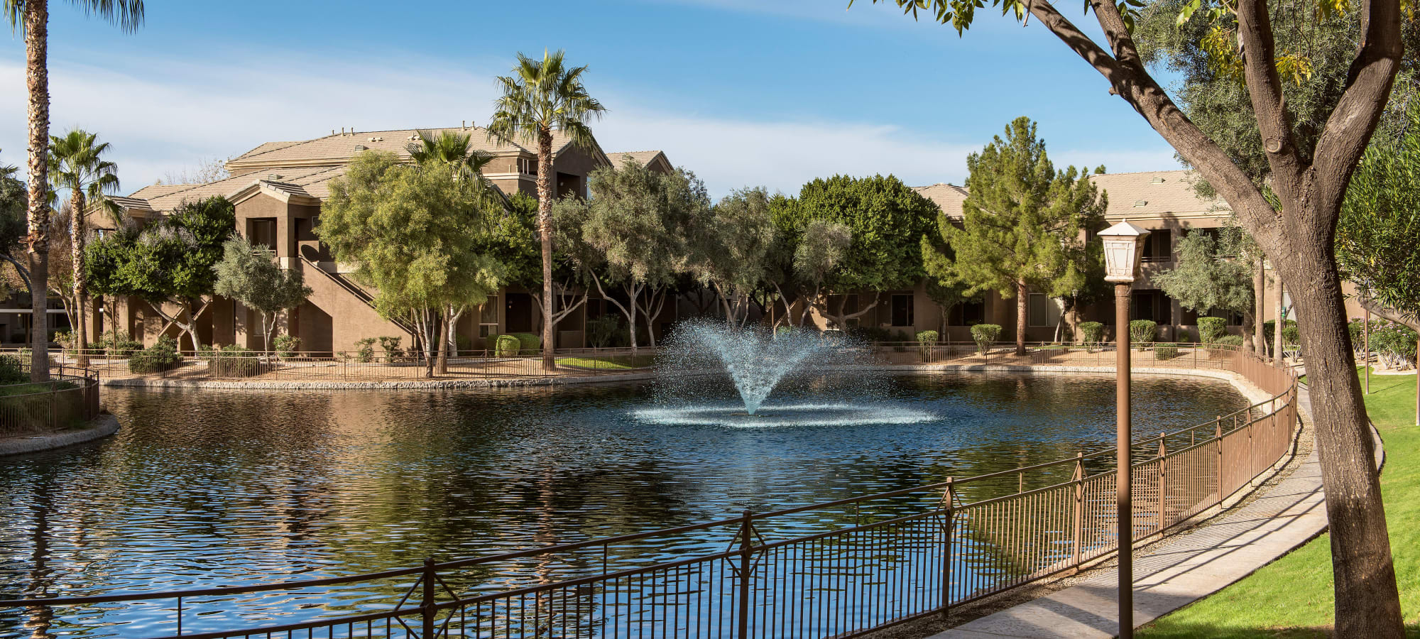 Resident community pond at Laguna at Arrowhead Ranch in Glendale, Arizona
