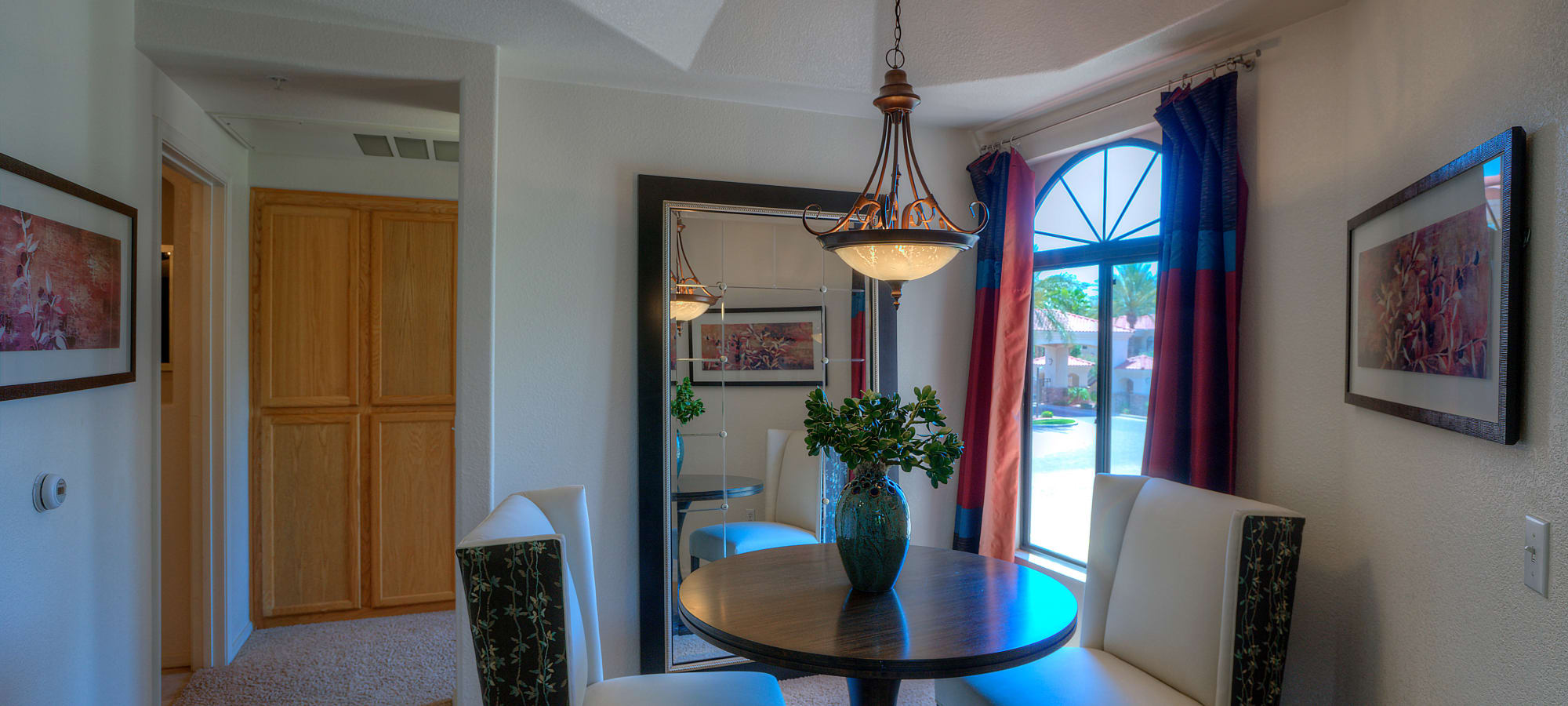 Small dining room table at San Cervantes in Chandler, Arizona