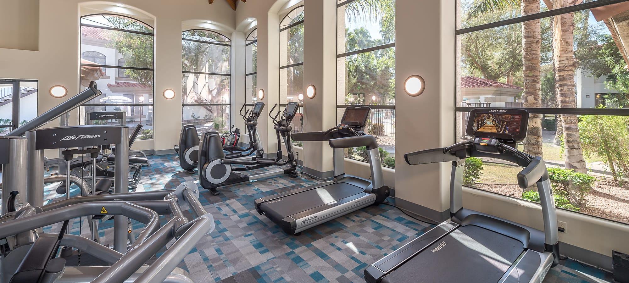 Luxury fitness center at San Palmas in Chandler, Arizona
