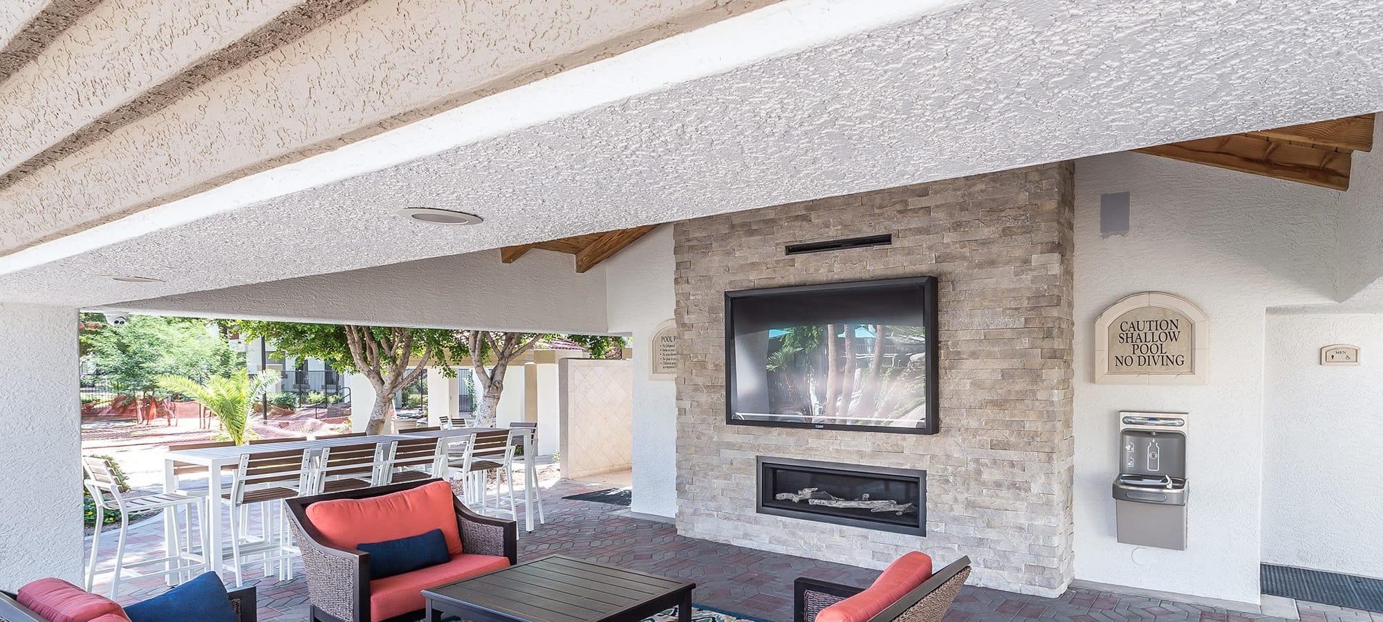 Luxury cabana at San Palmas in Chandler, Arizona