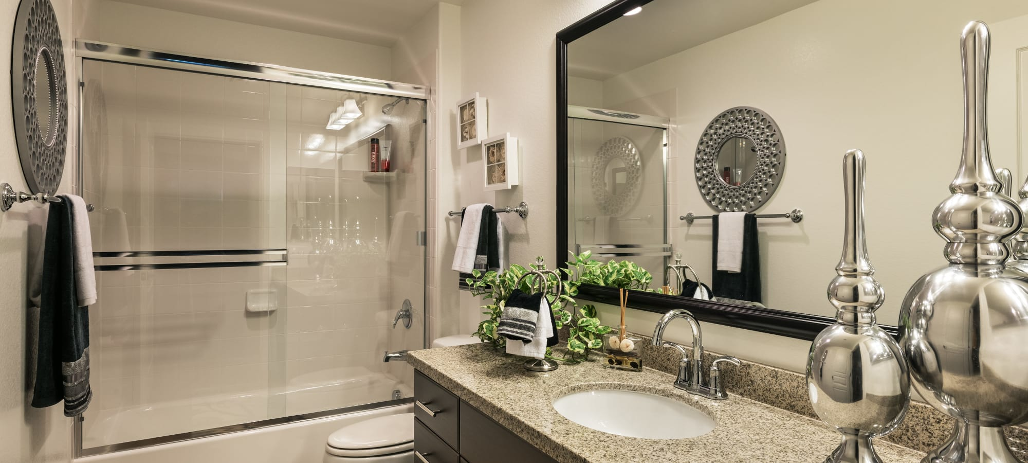 Luxury bathroom with granite counter tops at San Posada in Mesa, Arizona
