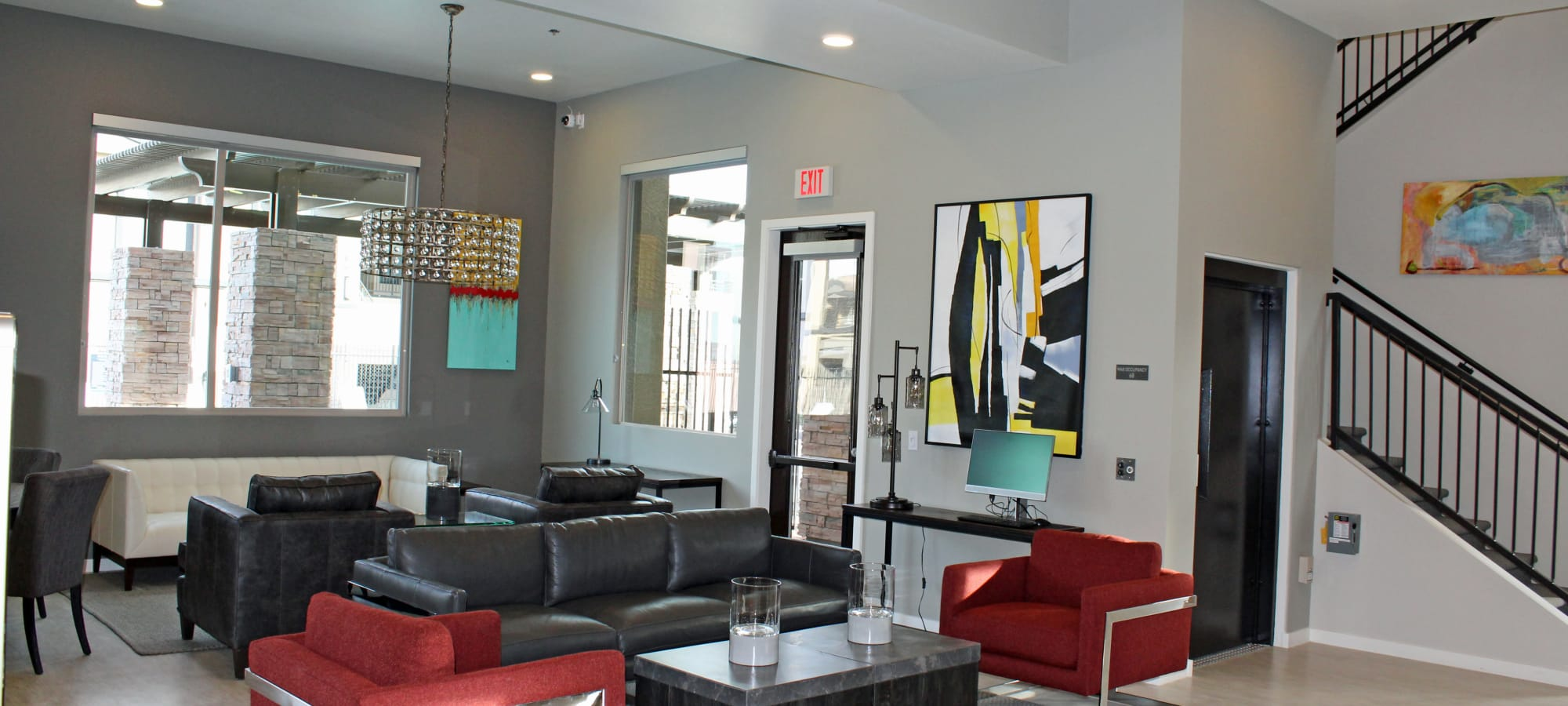 Contemporary lounge at The Maxx 159 in Goodyear, Arizona