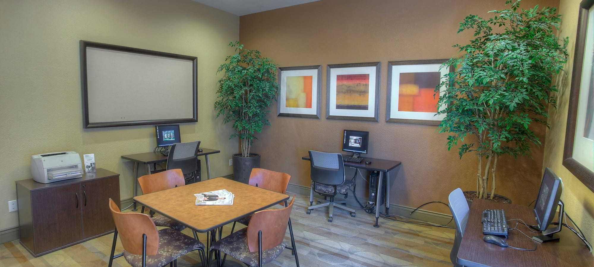 Community business center at The Regents at Scottsdale in Scottsdale, Arizona