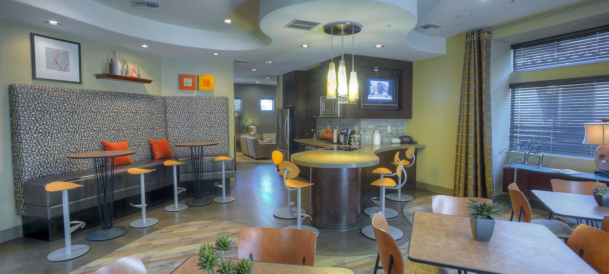 Community lounge at The Regents at Scottsdale in Scottsdale, Arizona