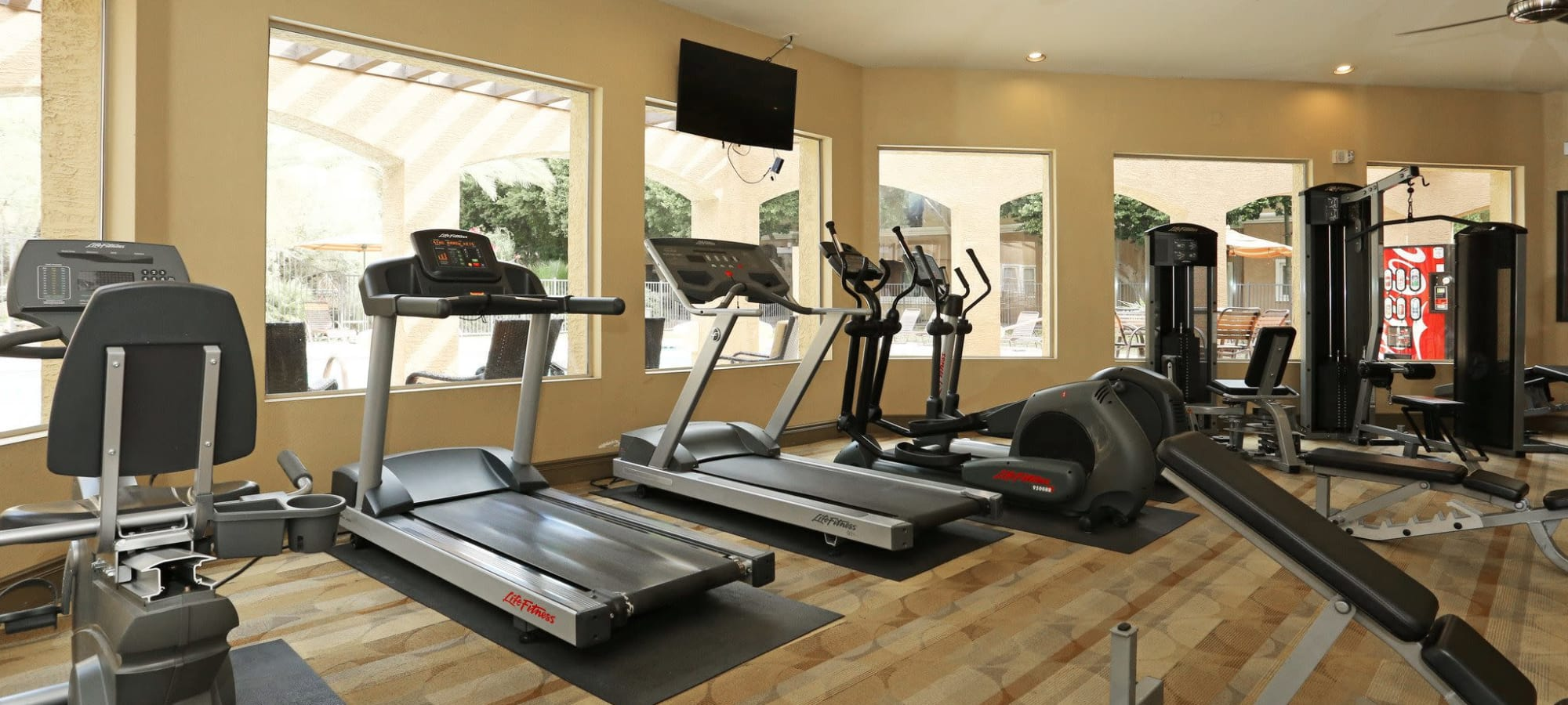 Community gym at The Regents at Scottsdale in Scottsdale, Arizona