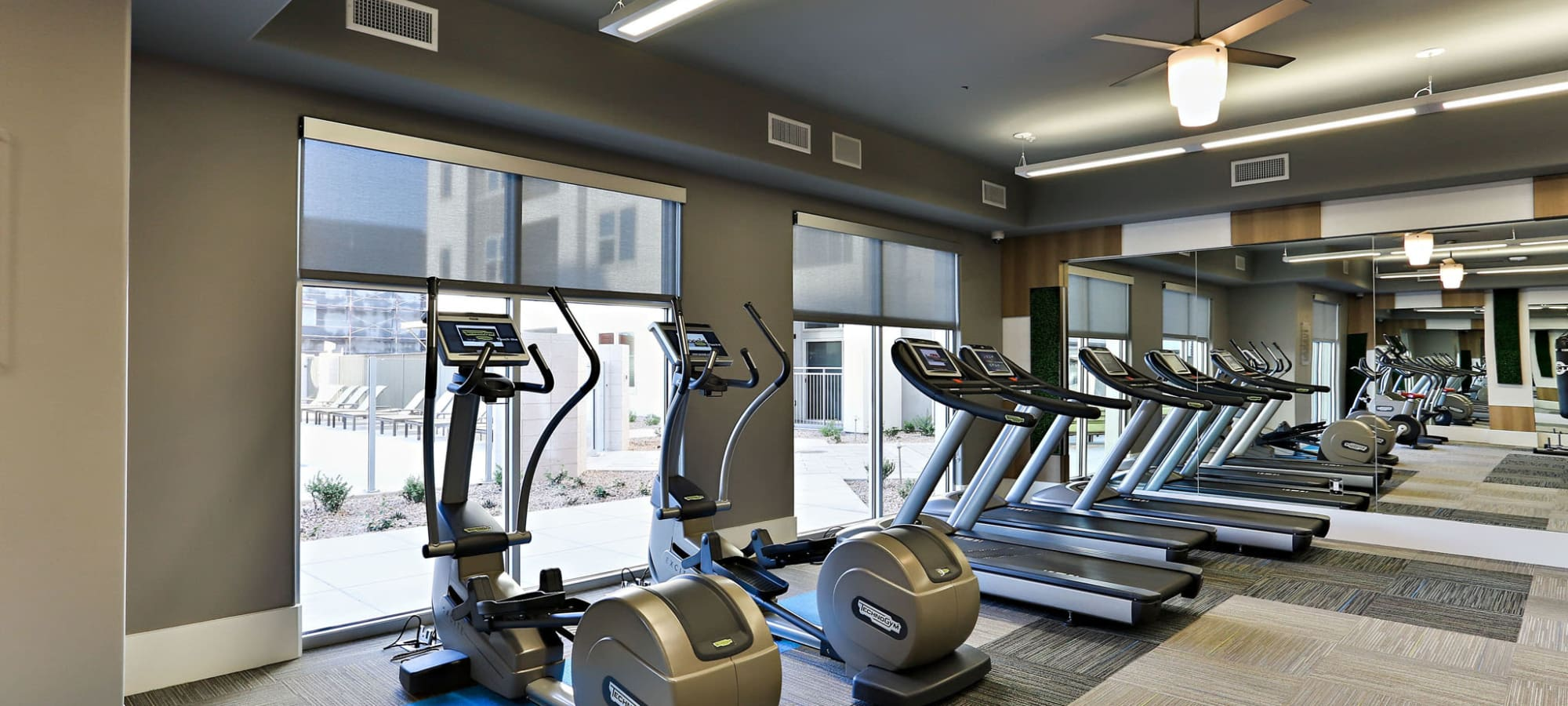 Well-equipped fitness center at The Hyve in Tempe, Arizona