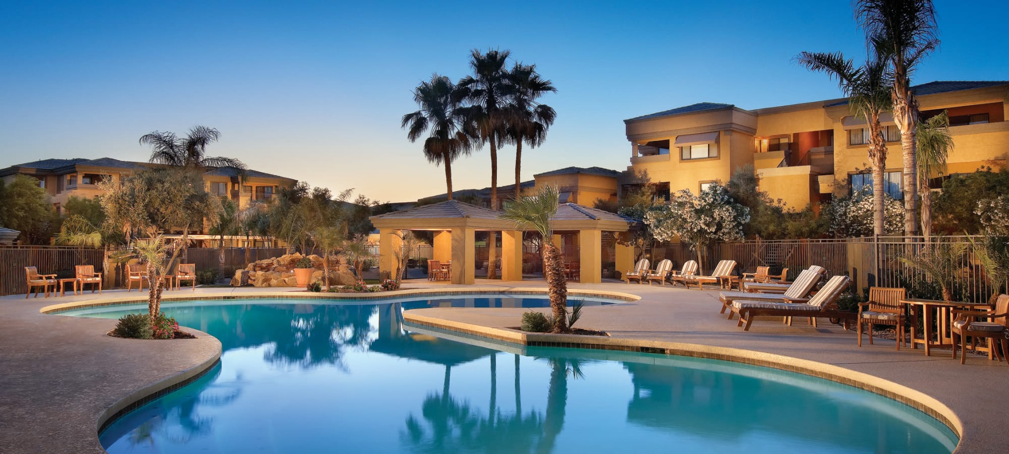 Swimming pool at Waterside at Ocotillo in Chandler, Arizona