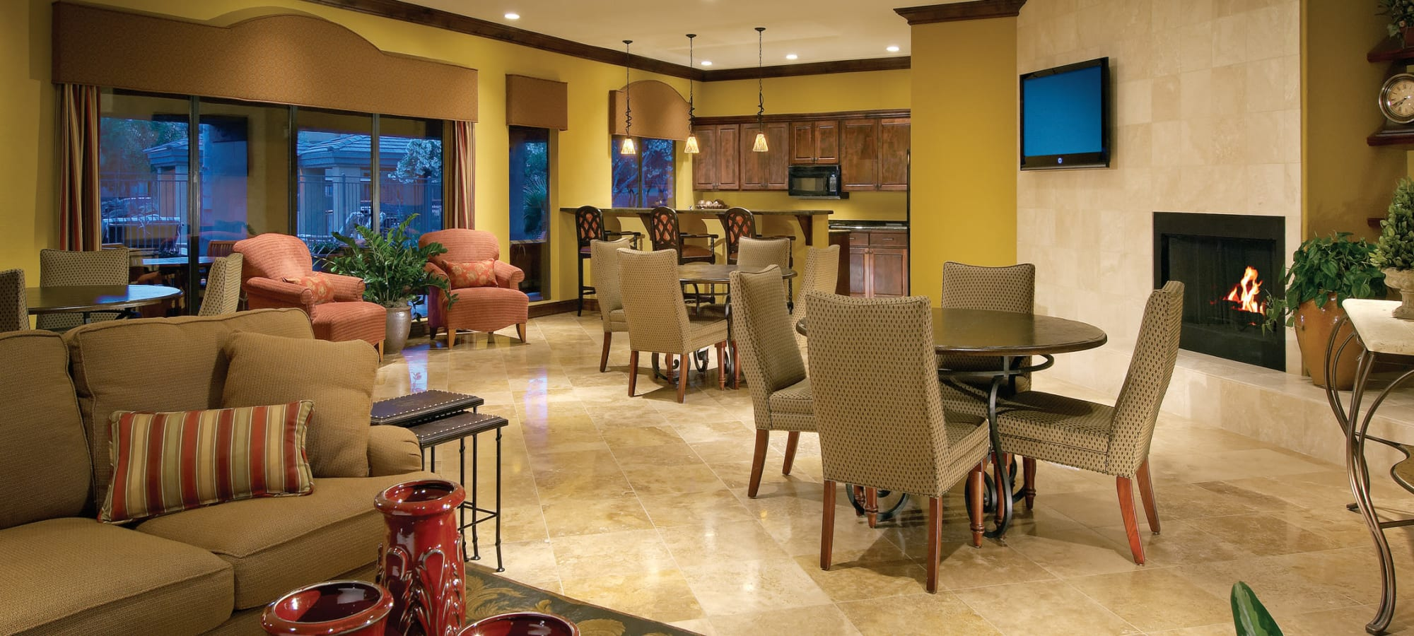 Luxurious clubhouse at Waterside at Ocotillo in Chandler, Arizona