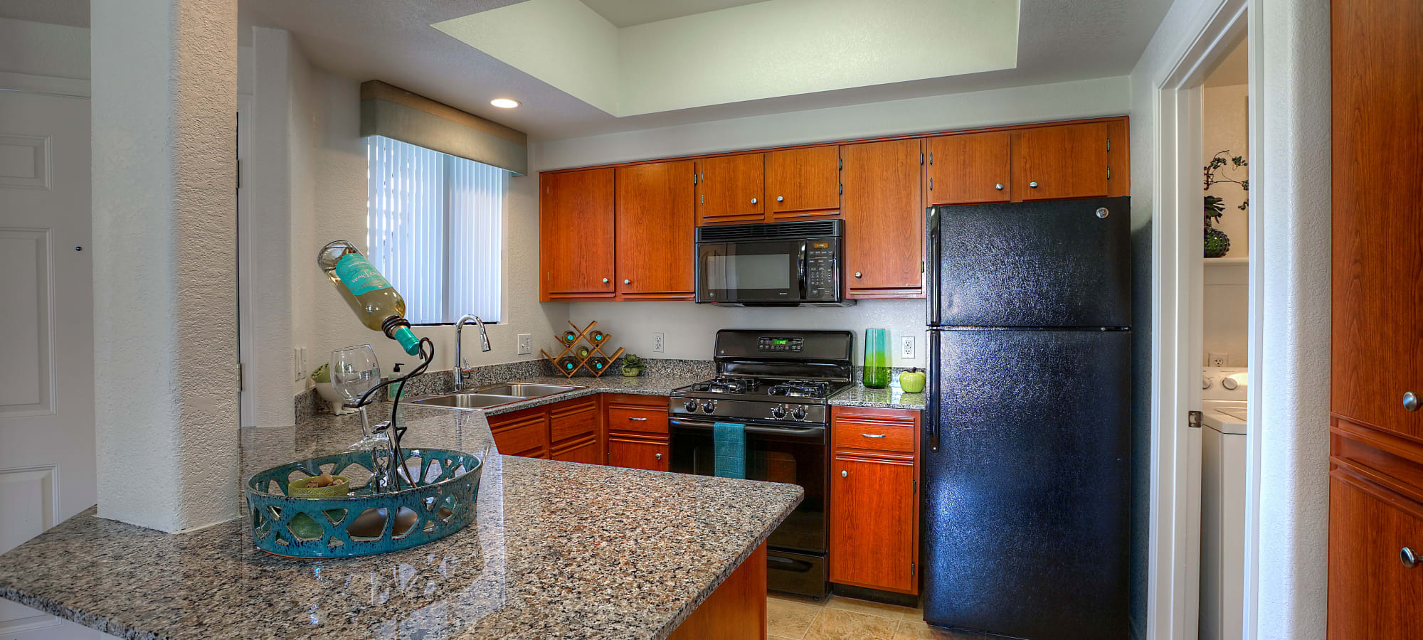 Kitchen with granite counter tops at San Palacio in Chandler, Arizona