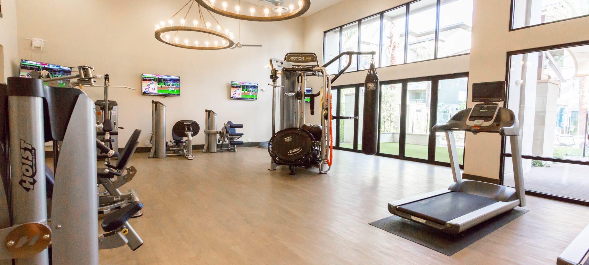 Fitness center at Avant at Fashion Center in Chandler, Arizona