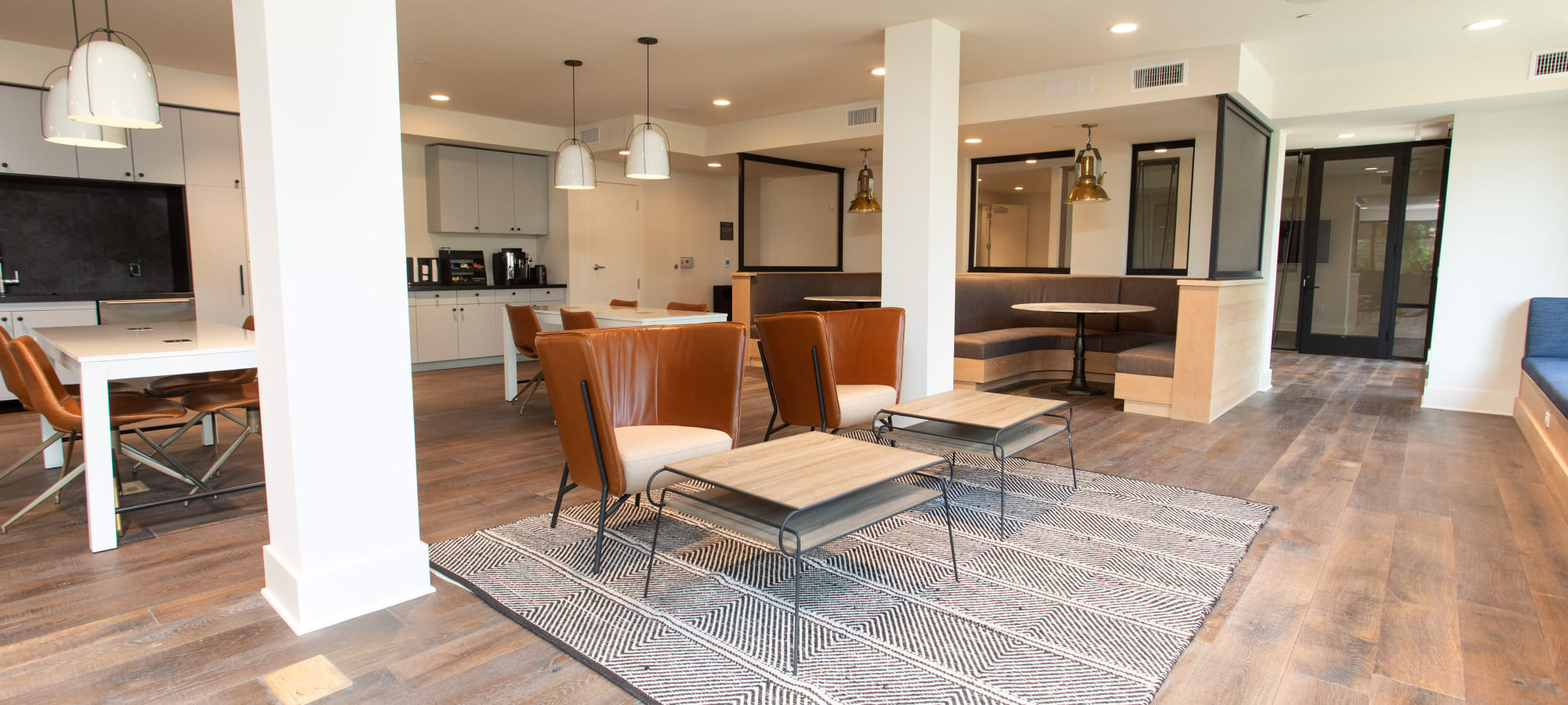 Comfortable seating arrangements in business center at Lakeside Drive Apartments in Tempe, Arizona