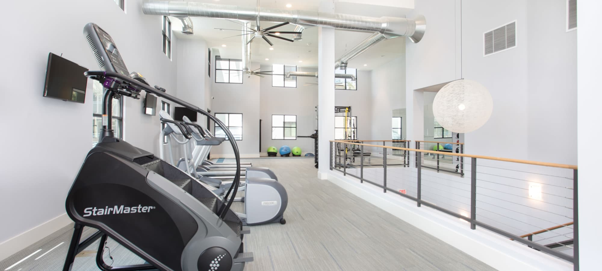 Spacious fitness center at Lakeside Drive Apartments in Tempe, Arizona