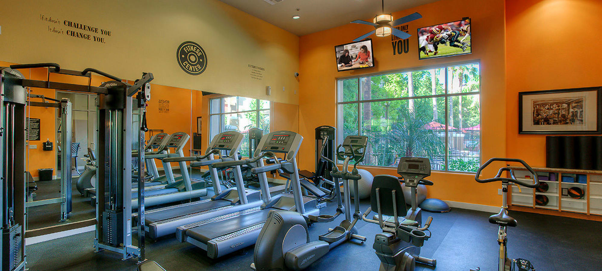 Treadmills and equipment in fitness center at Park on Bell in Phoenix, Arizona
