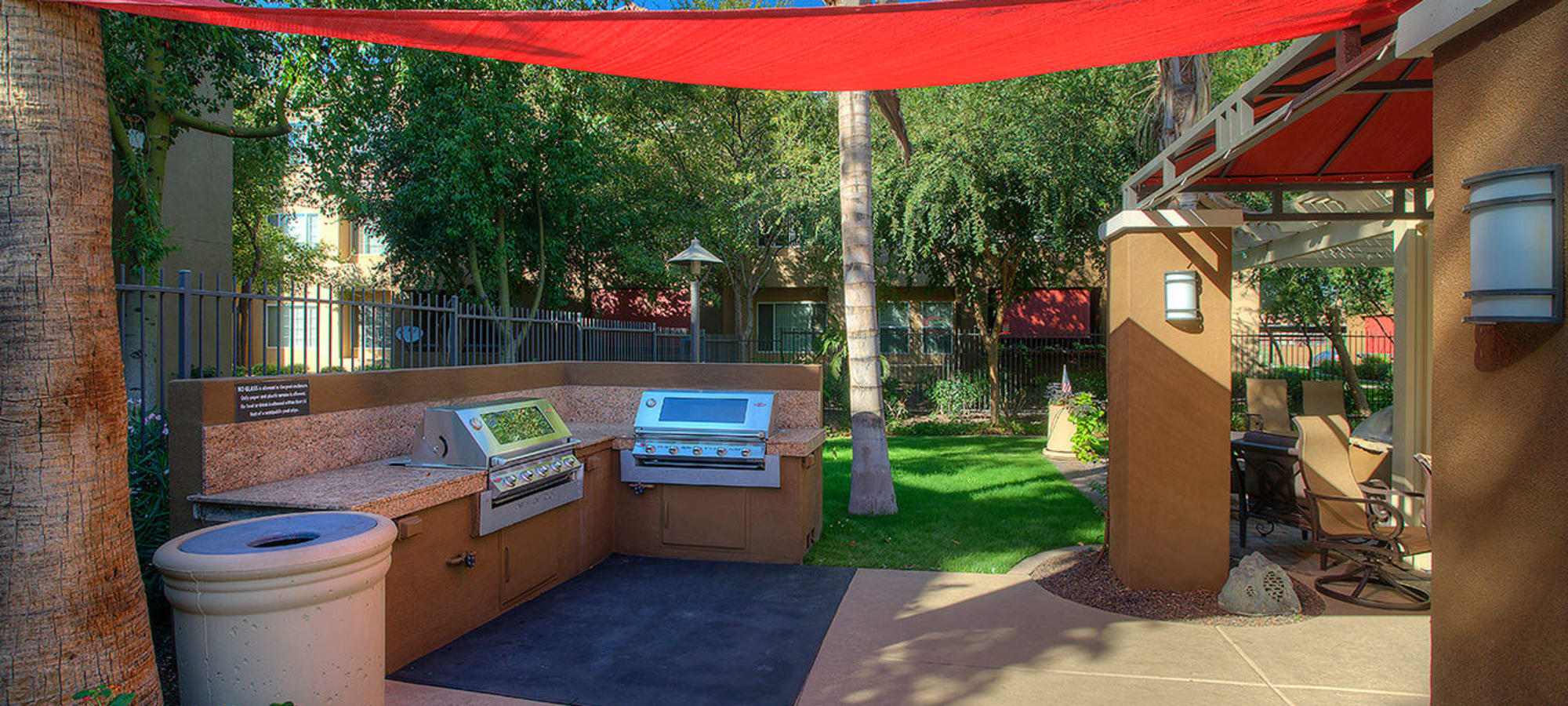 Covered outdoor grilling station at Park on Bell in Phoenix, Arizona