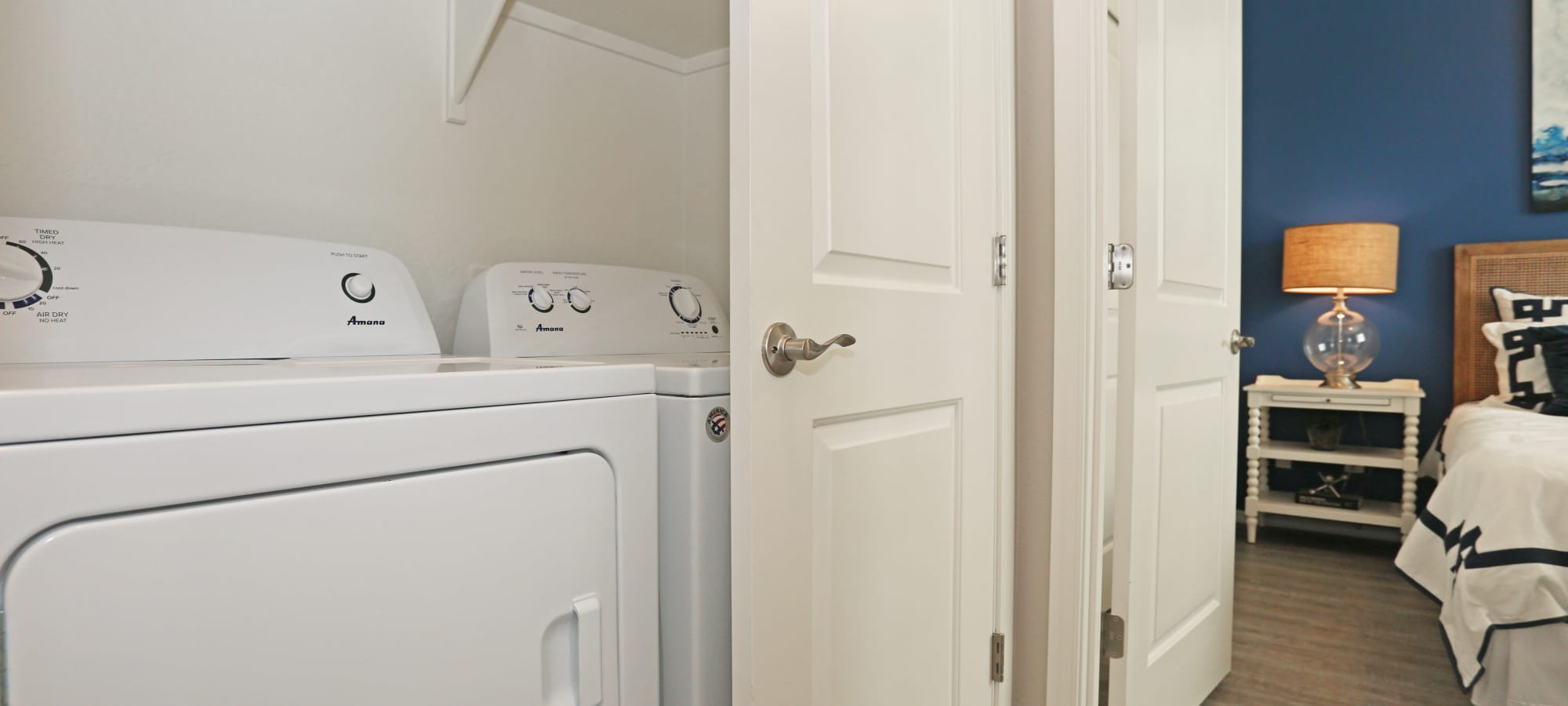 In-unit washer and dryer in model home at Christopher Todd Communities At Marley Park in Surprise, Arizona