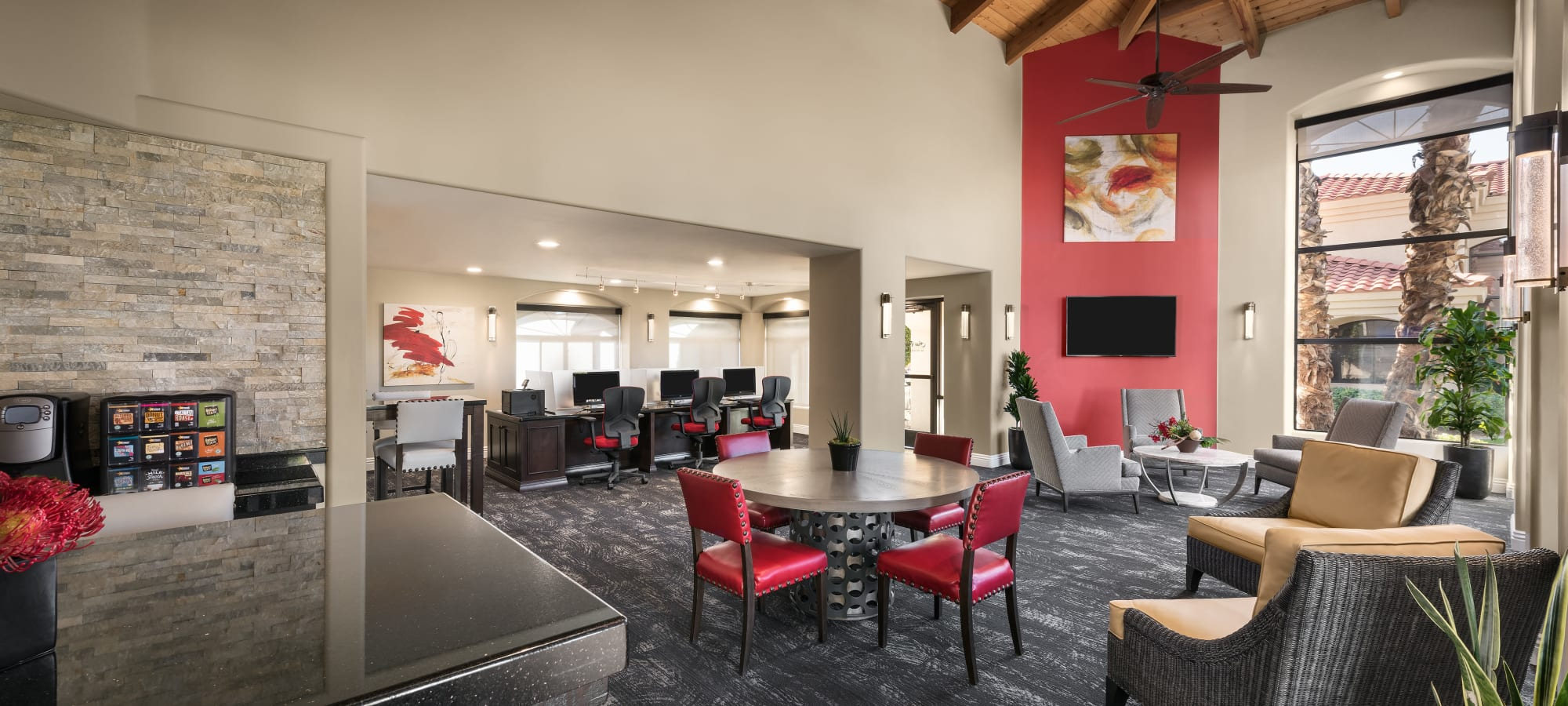 Clubhouse and business center at San Palmilla in Tempe, Arizona